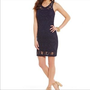 Gianni Bini Navy Crochet Dress
